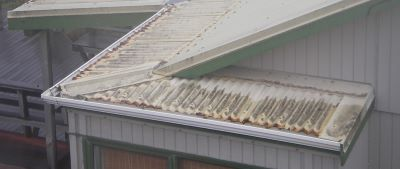 Low fronted gutters in severe conditions will often lead to eaves corrosion.