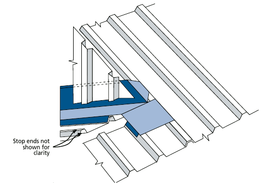Shorter Gable meets and Overhanging Eave