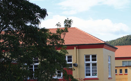The School wanted to retain the aesthetic appeal of the original building and to achieve this Architects H + K chose Gerard Roofu0027s Tuffcoat Tile in ... & Innovation Benefits Whangarei Girls | NZ Metal Roofing Manufacturers memphite.com