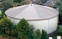 Town Supply Water Tanks Get New Roofs.